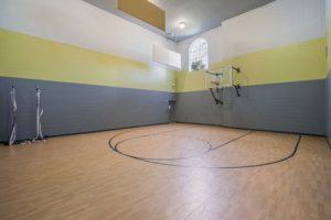 Full sized basketball court