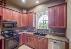 Full featured kitchen off of recreational room