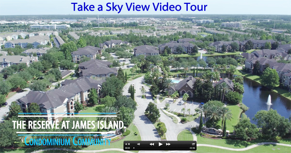 Video tour from drone of Reserve at James Island Condos